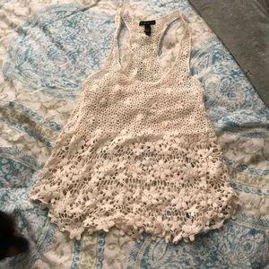 Floral Crochet Tank Top